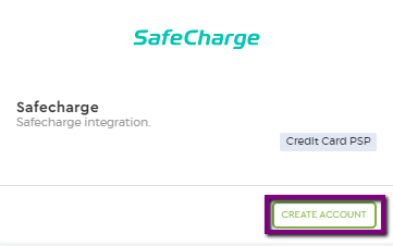 safe charge create account
