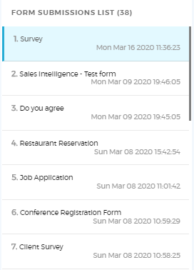 form list