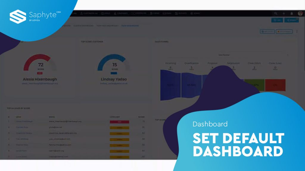 Set Default Dashboard