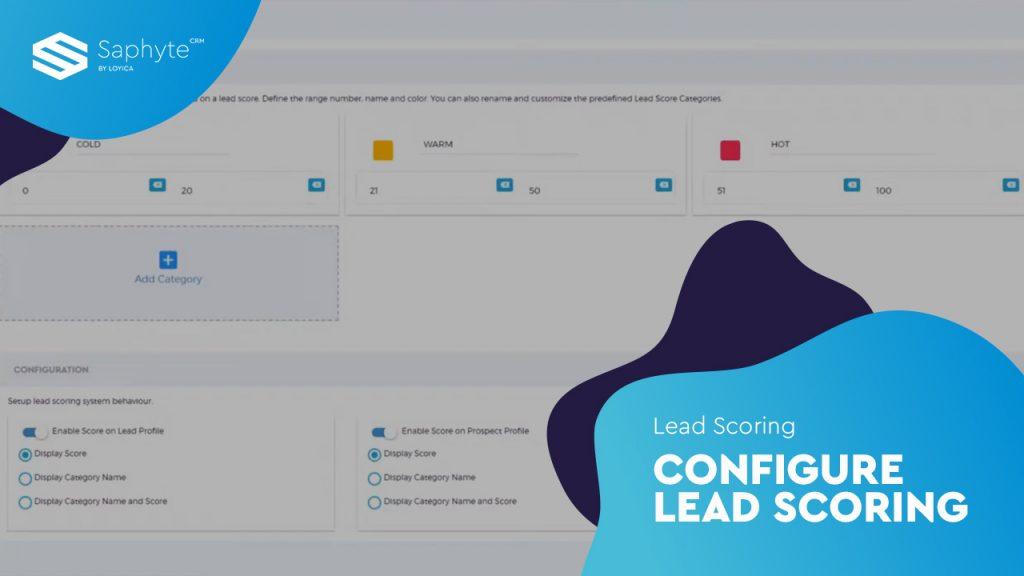 Lead Scoring - Configure Lead Scoring