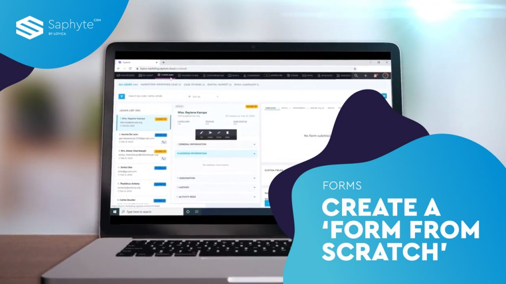 Create a form from scratch