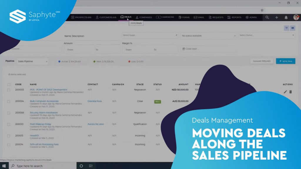 Moving deals along the sales pipeline