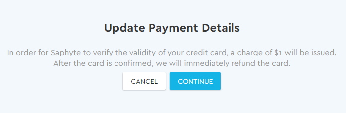 Update Payment Details